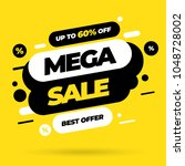 sale banner template design ... | Shutterstock .eps vector #1048728002