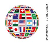 flat circle with flags of...   Shutterstock .eps vector #1048728035