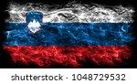 slovenia smoke flag | Shutterstock . vector #1048729532