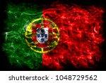 portugal smoke flag | Shutterstock . vector #1048729562