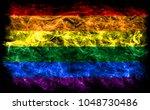 gay smoke flag  lgbt pride flag | Shutterstock . vector #1048730486