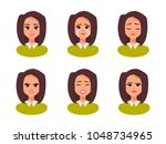 vector female character in... | Shutterstock .eps vector #1048734965