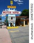 Small photo of Williams, Arizona, USA - August 9, 2013: Motel sign in Williams, Arizona