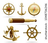 vector marine navigation icon... | Shutterstock .eps vector #1048736246