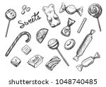 vector illustration of sweets... | Shutterstock .eps vector #1048740485