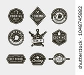 set of vintage cooking classes... | Shutterstock .eps vector #1048745882