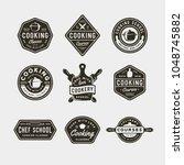 set of vintage cooking classes... | Shutterstock .eps vector #1048745882