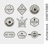 set of vintage cooking classes... | Shutterstock .eps vector #1048745885