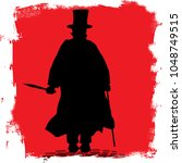 jack the ripper on the cobble... | Shutterstock . vector #1048749515