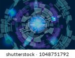 abstract future technology... | Shutterstock .eps vector #1048751792