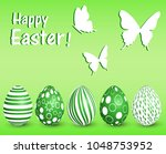 greeting card for easter day | Shutterstock .eps vector #1048753952