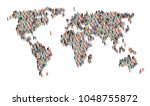 group of people in form of... | Shutterstock .eps vector #1048755872