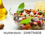 salad with olive oil | Shutterstock . vector #1048756838