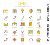 collection of office lined... | Shutterstock .eps vector #1048758806