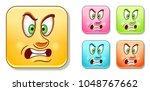 aggressive furious emoji face.... | Shutterstock .eps vector #1048767662