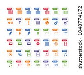 colorful set of file type icons.... | Shutterstock .eps vector #1048774172