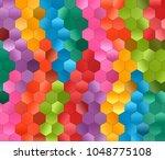 polygon hexagon abstract... | Shutterstock . vector #1048775108