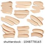 set of liquid foundation... | Shutterstock . vector #1048778165
