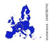 vector map of european union... | Shutterstock .eps vector #1048780742