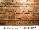 Brick Wall Of Red Brick In A...