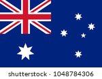 australian national flag in... | Shutterstock .eps vector #1048784306