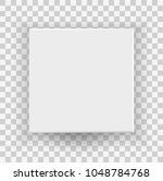 white closed box top and front... | Shutterstock .eps vector #1048784768