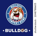 bulldog logo vector | Shutterstock .eps vector #1048788605