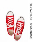 pair of sneakers colored youth... | Shutterstock . vector #1048798448