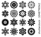 collection stickers of  flowers.... | Shutterstock .eps vector #1048798562