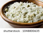 cooked plain basmati rice with... | Shutterstock . vector #1048800635