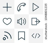 user icons line style set with... | Shutterstock .eps vector #1048801235