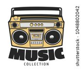 icon boombox. vector isolated... | Shutterstock .eps vector #1048802042