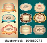 vintage labels | Shutterstock .eps vector #104880278