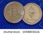 bitcoin  btc  bit coin. crypto... | Shutterstock . vector #1048803626