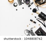 flat lay still life of fashion... | Shutterstock . vector #1048808762