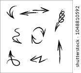 Drown Black Vector Arrows Set...