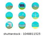 vector set of illustrations.... | Shutterstock .eps vector #1048811525