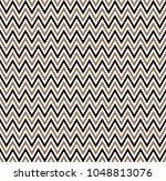 horizontal gold zigzag stripes... | Shutterstock .eps vector #1048813076