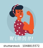 we can do it poster. strong... | Shutterstock .eps vector #1048815572