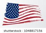 waving flag united states of... | Shutterstock .eps vector #1048817156