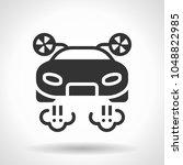 monochromatic flying car icon... | Shutterstock .eps vector #1048822985