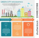ecology infographic background... | Shutterstock .eps vector #1048823588