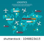 infographic illustration with... | Shutterstock .eps vector #1048823615