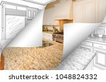 kitchen photo page corners... | Shutterstock . vector #1048824332