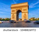 paris arc de triomphe ... | Shutterstock . vector #1048826972