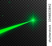 abstract green laser beam.... | Shutterstock .eps vector #1048833842