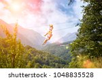 exciting adventure activity in... | Shutterstock . vector #1048835528