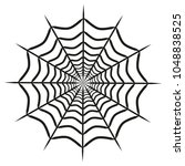 spider web icon on white... | Shutterstock .eps vector #1048838525