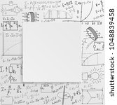 mathematical equations and... | Shutterstock .eps vector #1048839458