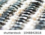 blurred abstract art closeup... | Shutterstock . vector #1048842818